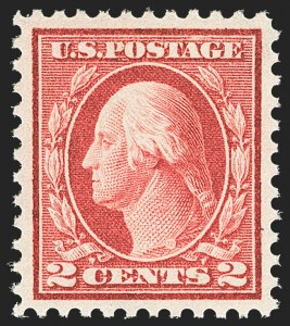 Sale Number 1163, Lot Number 354, 1913-15 Washington-Franklin Issues (Scott 441-461)2c Pale Carmine Red, Ty. I (461), 2c Pale Carmine Red, Ty. I (461)
