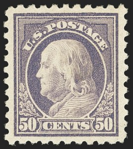 Sale Number 1163, Lot Number 368, 1916-17 Issues (Scott 462-480)50c Light Violet (477), 50c Light Violet (477)