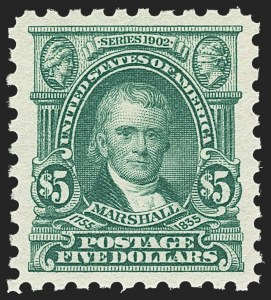 Sale Number 1163, Lot Number 371, 1916-17 Issues (Scott 462-480)$5.00 Light Green (480), $5.00 Light Green (480)