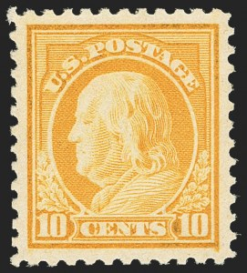 Sale Number 1163, Lot Number 385, 1917-19 Issues (Scott 481-524)10c Orange Yellow (510), 10c Orange Yellow (510)