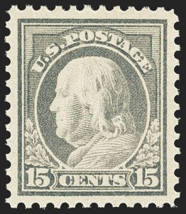 Sale Number 1163, Lot Number 389, 1917-19 Issues (Scott 481-524)15c Gray (514), 15c Gray (514)