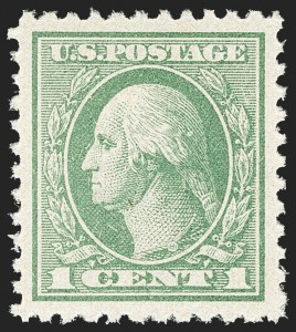Sale Number 1163, Lot Number 396, 1918-20 Offset Printing Issues (Scott 525-536)1c Gray Green (525), 1c Gray Green (525)