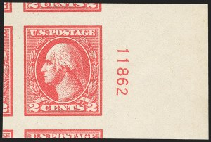 Sale Number 1163, Lot Number 400, 1918-20 Offset Printing Issues (Scott 525-536)2c Carmine, Ty. Va, Imperforate (534), 2c Carmine, Ty. Va, Imperforate (534)