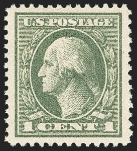Sale Number 1163, Lot Number 402, 1918-20 Offset Printing Issues (Scott 525-536)1c Gray Green (536), 1c Gray Green (536)