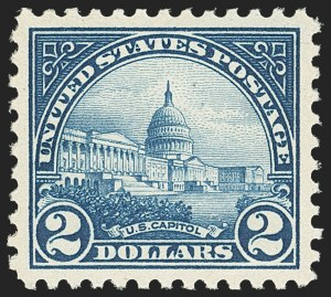 Sale Number 1163, Lot Number 426, 1922-29 Issues (Scott 551-621)$2.00 Deep Blue (572), $2.00 Deep Blue (572)