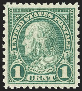 Sale Number 1163, Lot Number 428, 1922-29 Issues (Scott 551-621)1c Green, Rotary (578), 1c Green, Rotary (578)