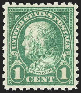 Sale Number 1163, Lot Number 429, 1922-29 Issues (Scott 551-621)1c Green, Perf 10 (581), 1c Green, Perf 10 (581)