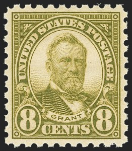 Sale Number 1163, Lot Number 433, 1922-29 Issues (Scott 551-621)8c Olive Green, Perf 10 (589), 8c Olive Green, Perf 10 (589)