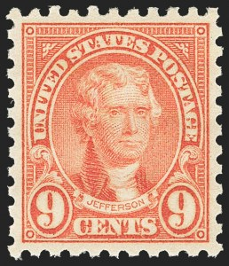 Sale Number 1163, Lot Number 434, 1922-29 Issues (Scott 551-621)9c Rose, Perf 10 (590), 9c Rose, Perf 10 (590)