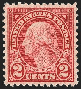 Sale Number 1163, Lot Number 436, 1922-29 Issues (Scott 551-621)2c Carmine, Rotary, Perf 11 (595), 2c Carmine, Rotary, Perf 11 (595)