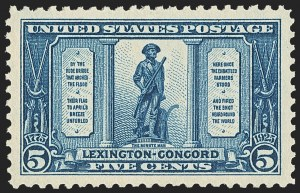 Sale Number 1163, Lot Number 440, 1922-29 Issues (Scott 551-621)1c-5c Lexington-Concord (617-619), 1c-5c Lexington-Concord (617-619)