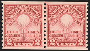 Sale Number 1163, Lot Number 449, 1925 and Later Issues (Scott 627-893)2c Edison, Coil (656), 2c Edison, Coil (656)