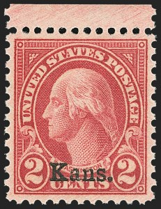 Sale Number 1163, Lot Number 451, 1925 and Later Issues (Scott 627-893)2c Kans. Ovpt. (660), 2c Kans. Ovpt. (660)