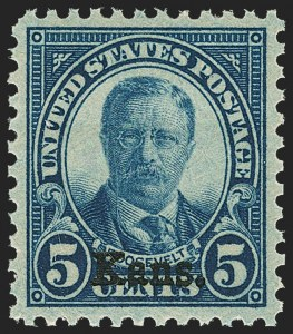 Sale Number 1163, Lot Number 454, 1925 and Later Issues (Scott 627-893)5c Kans. Ovpt. (663), 5c Kans. Ovpt. (663)