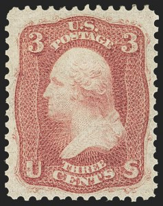 Sale Number 1163, Lot Number 46, 1861-66 Issue (Scott 56-78)3c Brown Rose, First Design (56), 3c Brown Rose, First Design (56)