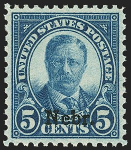 Sale Number 1163, Lot Number 461, 1925 and Later Issues (Scott 627-893)5c Nebr. Ovpt. (674), 5c Nebr. Ovpt. (674)
