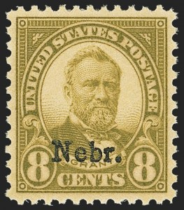 Sale Number 1163, Lot Number 464, 1925 and Later Issues (Scott 627-893)8c Nebr. Ovpt. (677), 8c Nebr. Ovpt. (677)