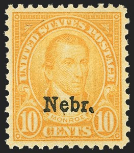 Sale Number 1163, Lot Number 466, 1925 and Later Issues (Scott 627-893)10c Nebr. Ovpt. (679), 10c Nebr. Ovpt. (679)