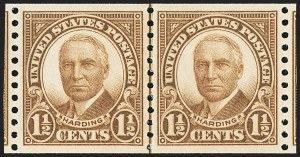 Sale Number 1163, Lot Number 467, 1925 and Later Issues (Scott 627-893)1-1/2c, 4c Brown, Coils (686-687), 1-1/2c, 4c Brown, Coils (686-687)
