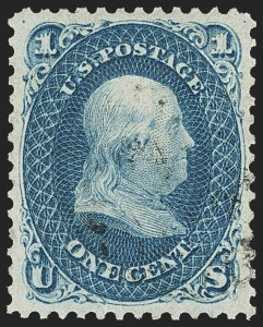 Sale Number 1163, Lot Number 47, 1861-66 Issue (Scott 56-78)1c Dark Blue (63b), 1c Dark Blue (63b)