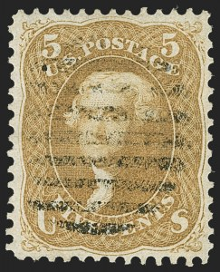 Sale Number 1163, Lot Number 51, 1861-66 Issue (Scott 56-78)5c Brown Yellow (67a), 5c Brown Yellow (67a)