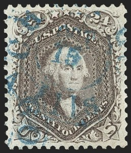 Sale Number 1163, Lot Number 54, 1861-66 Issue (Scott 56-78)24c Red Lilac (70), 24c Red Lilac (70)