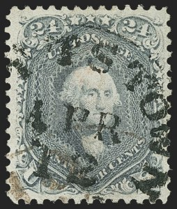 Sale Number 1163, Lot Number 56, 1861-66 Issue (Scott 56-78)24c Steel Blue (70b), 24c Steel Blue (70b)