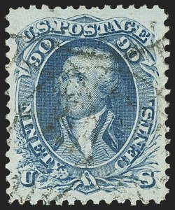 Sale Number 1163, Lot Number 57, 1861-66 Issue (Scott 56-78)90c Blue (72), 90c Blue (72)