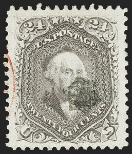 Sale Number 1163, Lot Number 62, 1861-66 Issue (Scott 56-78)24c Lilac (78), 24c Lilac (78)