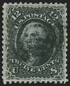 Sale Number 1163, Lot Number 66, 1867-68 Grilled Issue (Scott 79-101)12c Black, Z. Grill (85E), 12c Black, Z. Grill (85E)