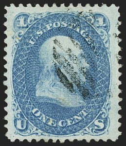 Sale Number 1163, Lot Number 67, 1867-68 Grilled Issue (Scott 79-101)1c Blue, E. Grill (86), 1c Blue, E. Grill (86)