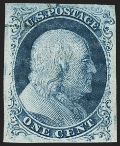 Sale Number 1163, Lot Number 7, 1851-56 Issue (Scott 7-17)1c Blue, Ty. IIIa (8A), 1c Blue, Ty. IIIa (8A)
