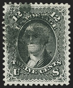 Sale Number 1163, Lot Number 70, 1867-68 Grilled Issue (Scott 79-101)12c Black, E. Grill (90), 12c Black, E. Grill (90)