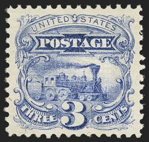 Sale Number 1163, Lot Number 80, 1869 Pictorial Issue (Scott 112-122)3c Ultramarine (114). Mint N.H, 3c Ultramarine (114). Mint N.H