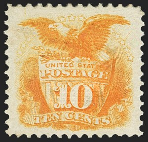 Sale Number 1163, Lot Number 81, 1869 Pictorial Issue (Scott 112-122)10c Yellow (116), 10c Yellow (116)