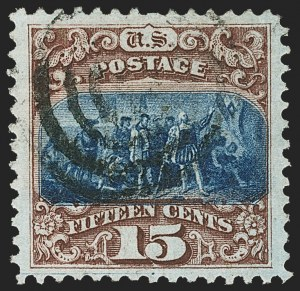 Sale Number 1163, Lot Number 83, 1869 Pictorial Issue (Scott 112-122)15c Brown & Blue, Ty. I (118), 15c Brown & Blue, Ty. I (118)