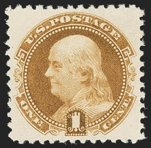 Sale Number 1163, Lot Number 93, 1875 Re-Issue of 1869 Pictorial Issue (Scott 123-133a)1c Brown Orange, 1881 Re-Issue (133a), 1c Brown Orange, 1881 Re-Issue (133a)