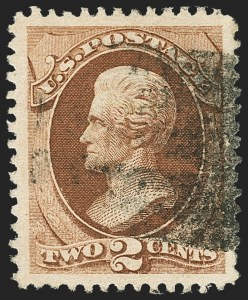 Sale Number 1163, Lot Number 95, 1870-71 National Bank Note Co. H. and I. Grilled Issue (Scott 134-144)2c Red Brown, H. Grill (135), 2c Red Brown, H. Grill (135)