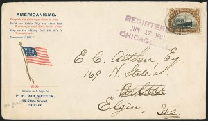 Sale Number 1165, Lot Number 101, 1901 Pan-American Issue: Covers10c Pan-American (299), 10c Pan-American (299)