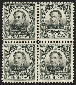 Sale Number 1165, Lot Number 135, 1902-08 Issue: Issued Stamps, $1.00-$5.00$1.00 Black (311), $1.00 Black (311)