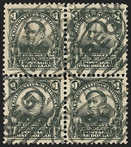 Sale Number 1165, Lot Number 137, 1902-08 Issue: Issued Stamps, $1.00-$5.00$1.00 Black (311), $1.00 Black (311)