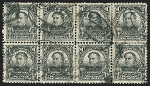Sale Number 1165, Lot Number 138, 1902-08 Issue: Issued Stamps, $1.00-$5.00$1.00 Black (311), $1.00 Black (311)