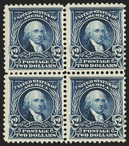 Sale Number 1165, Lot Number 139, 1902-08 Issue: Issued Stamps, $1.00-$5.00$2.00 Dark Blue (312), $2.00 Dark Blue (312)