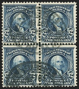Sale Number 1165, Lot Number 140, 1902-08 Issue: Issued Stamps, $1.00-$5.00$2.00 Dark Blue (312), $2.00 Dark Blue (312)