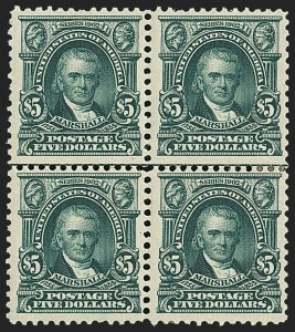 Sale Number 1165, Lot Number 143, 1902-08 Issue: Issued Stamps, $1.00-$5.00$5.00 Dark Green (313), $5.00 Dark Green (313)