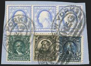 Sale Number 1165, Lot Number 144, 1902-08 Issue: Issued Stamps, $1.00-$5.00$1.00-$5.00 1902-03 Issue (311-313), $1.00-$5.00 1902-03 Issue (311-313)