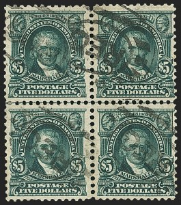Sale Number 1165, Lot Number 145, 1902-08 Issue: Issued Stamps, $1.00-$5.00$5.00 Dark Green (313), $5.00 Dark Green (313)
