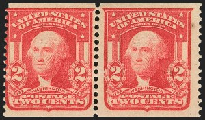 Sale Number 1165, Lot Number 162, 1902-08 Issue: Issued Stamps, Vending and Affixing Machine Perforations2c Scarlet, International Vending Machine Co., Perforated Approximately 12-1/2 (320b var), 2c Scarlet, International Vending Machine Co., Perforated Approximately 12-1/2 (320b var)