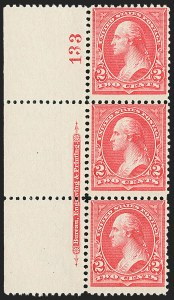 Sale Number 1165, Lot Number 17, 1894-98 Bureau Issue: Issued Stamps and Covers2c Carmine, Ty. II (251), 2c Carmine, Ty. II (251)