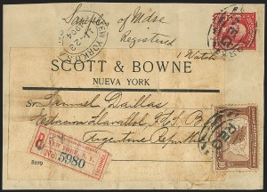 Sale Number 1165, Lot Number 214, 1902-08 Issue: Covers, 2c Shield2c Carmine, Ty. I (319), 2c Carmine, Ty. I (319)